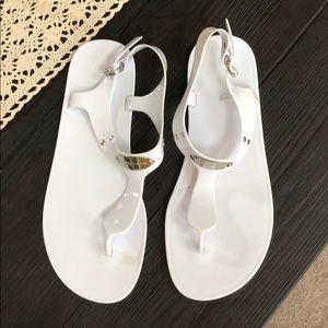 White Michael Kors sandels